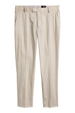 Suit trousers Slim fit - Light beige - Men | H&M CN 2